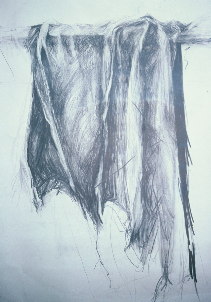 Drapery Study – graphite on paper