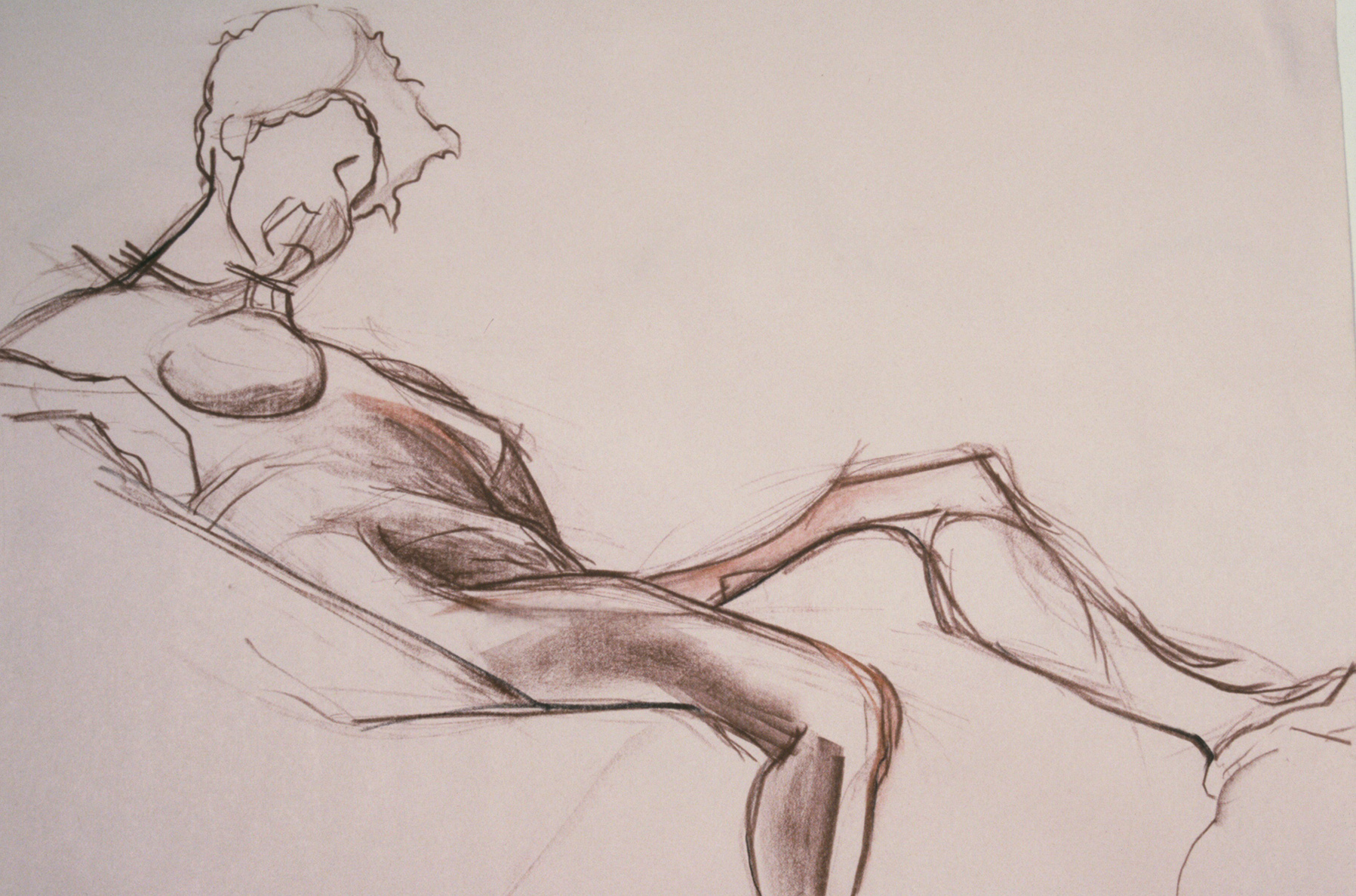 Life Drawing – conte' crayon