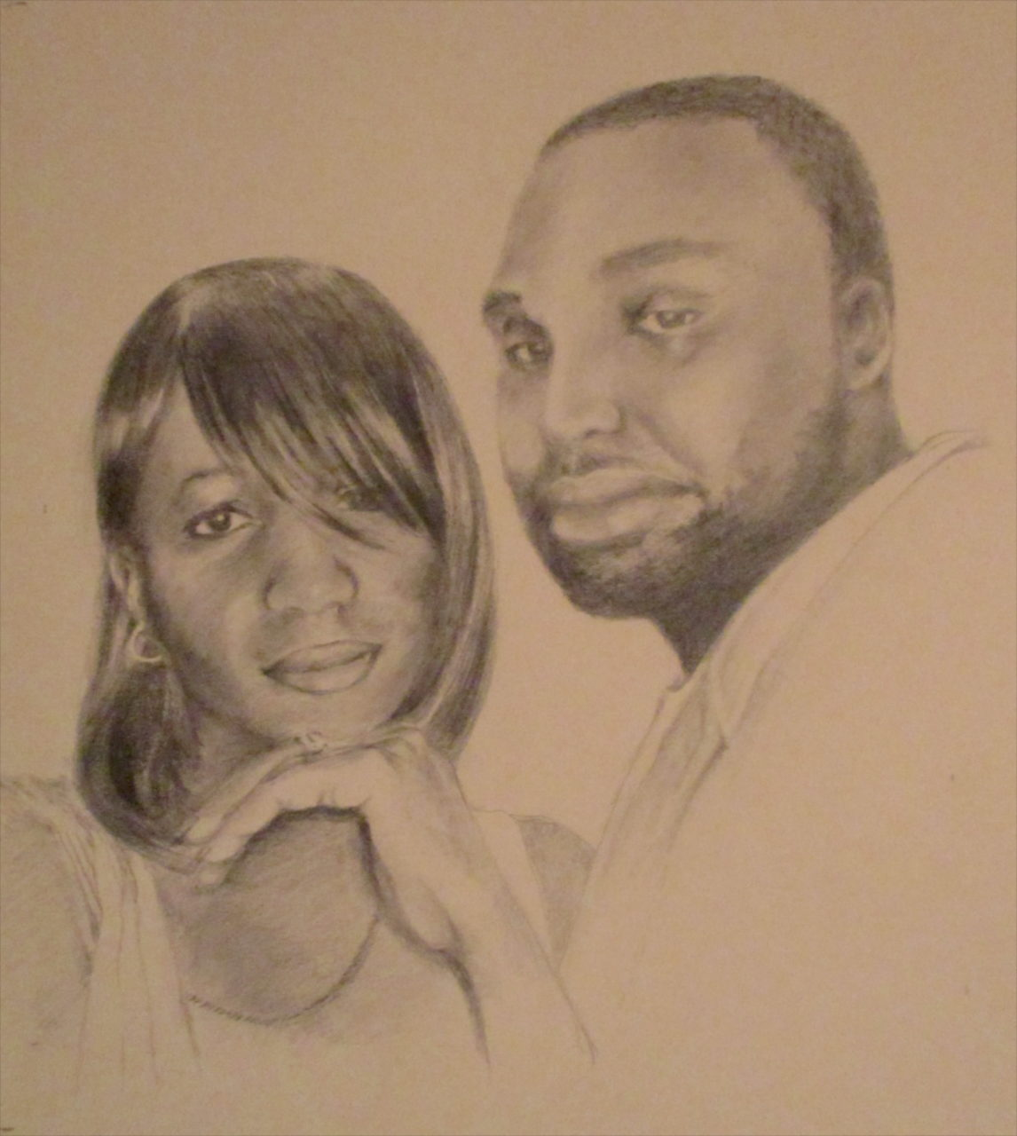 Portrait of Couple – graphite on paper